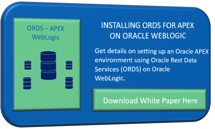 Deploying Oracle Rest Data Services (ORDS) on WebLogic for APEX