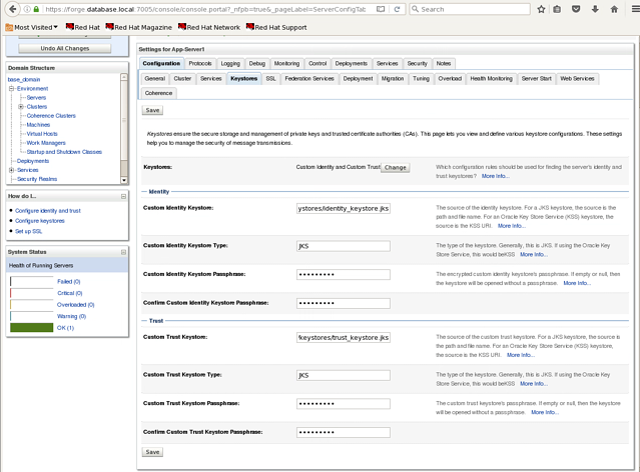 Securing WebLogic Servers Part 3 – Configuring a Managed
